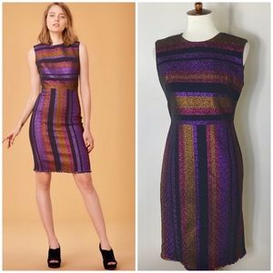 DVF Metallic stripe Sheath dress